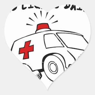 Adesivo Coração emt do paramédico