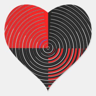 Adesivo Coração Energia vermelha Chakra - raias pretas da prata n