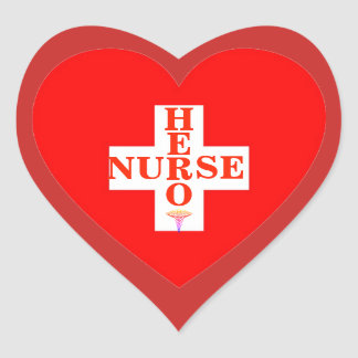 Adesivo Coração Enfermeira do herói