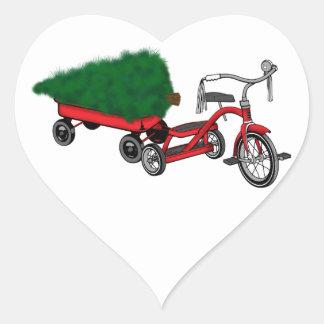 Adesivo Coração entrega da árvore de Natal