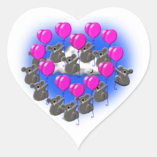 Adesivo Coração equipe da formação do vôo do koala (coração)