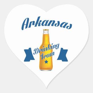 Adesivo Coração Equipe do bebendo de Arkansas