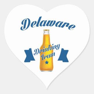 Adesivo Coração Equipe do bebendo de Delaware