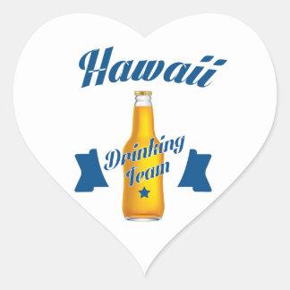Adesivo Coração Equipe do bebendo de Havaí
