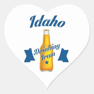 Adesivo Coração Equipe do bebendo de Idaho