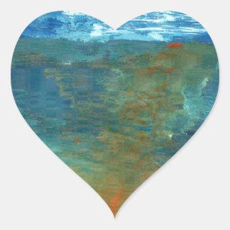 Adesivo Coração Era o mar