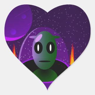 Adesivo Coração Espaço estrangeiro
