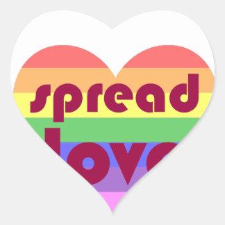 Adesivo Coração Espalhe o amor alegre