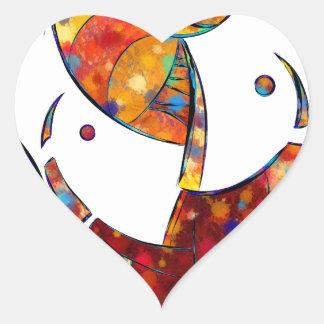 Adesivo Coração Espanessua - flor espiral imaginária