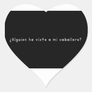 Adesivo Coração Espanhol-Cavaleiro