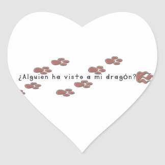 Adesivo Coração Espanhol-Dragão