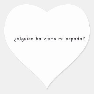 Adesivo Coração Espanhol-Espada