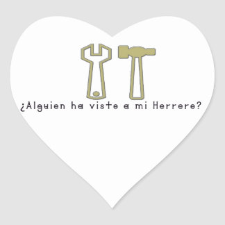 Adesivo Coração Espanhol-Ferreiro