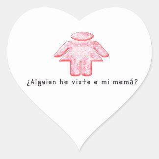 Adesivo Coração Espanhol-Momma