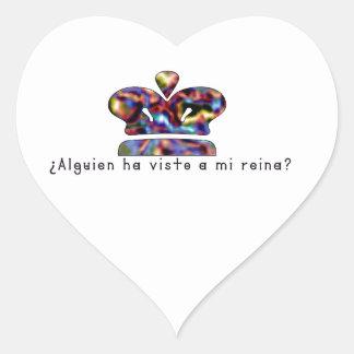 Adesivo Coração Espanhol-Rainha