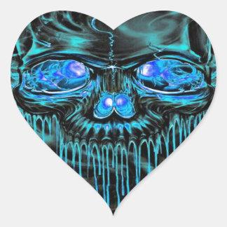 Adesivo Coração Esqueletos do gelo do inverno