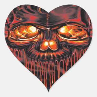 Adesivo Coração Esqueletos vermelhos sangrentos