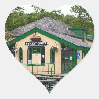 Adesivo Coração Estação de comboio da montanha de Snowdon,