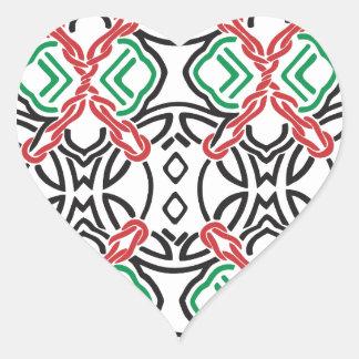 Adesivo Coração Estampa celta nº 2