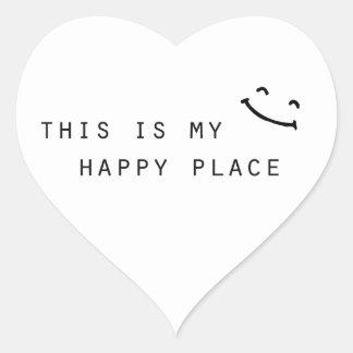Adesivo Coração este é meu design moderno simples do lugar feliz