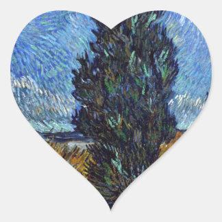 Adesivo Coração Estrada secundária de Vincent van Gogh em Provence