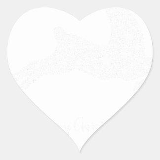 Adesivo Coração estrela da rena