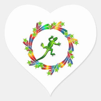 Adesivo Coração Estrelas do lagarto