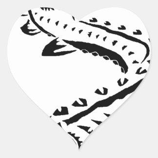 Adesivo Coração Esturjão tribal - beluga de Huso