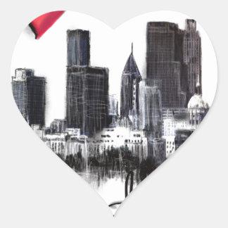 Adesivo Coração Eu amo Atlanta