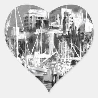 Adesivo Coração Eu amo Hobart
