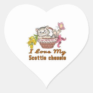 Adesivo Coração Eu amo meu chausie do Scottie