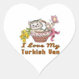 Adesivo Coração Eu amo meu Van turco