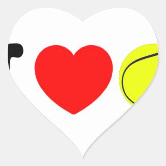 Adesivo Coração Eu amo o tênis
