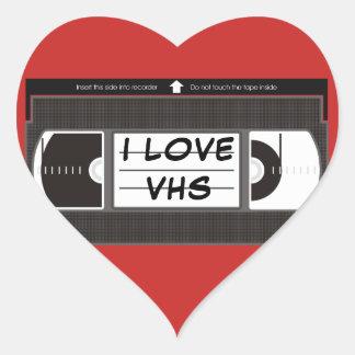 Adesivo Coração Eu amo VHS