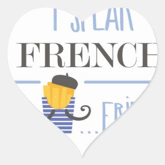 Adesivo Coração Eu falo o francês… Fritadas
