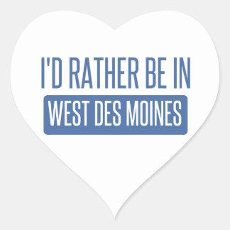 Adesivo Coração Eu preferencialmente estaria em Des Moines