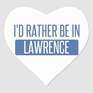 Adesivo Coração Eu preferencialmente estaria em Lawrence DENTRO