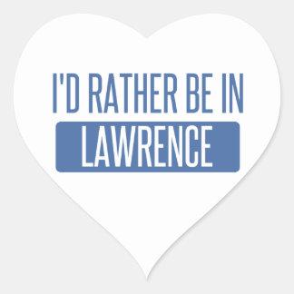 Adesivo Coração Eu preferencialmente estaria em Lawrence KS
