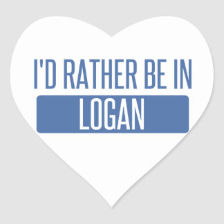 Adesivo Coração Eu preferencialmente estaria em Logan