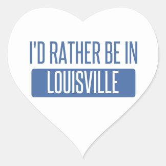 Adesivo Coração Eu preferencialmente estaria em Louisville