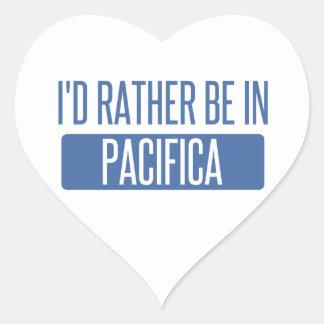 Adesivo Coração Eu preferencialmente estaria em Pacifica