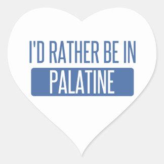 Adesivo Coração Eu preferencialmente estaria em Palatine