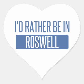 Adesivo Coração Eu preferencialmente estaria em Roswell nanômetro