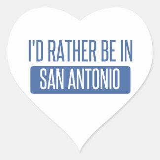 Adesivo Coração Eu preferencialmente estaria em San Antonio