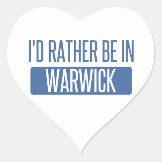 Adesivo Coração Eu preferencialmente estaria em Warwick