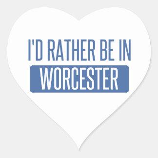 Adesivo Coração Eu preferencialmente estaria em Worcester