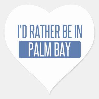 Adesivo Coração Eu preferencialmente estaria na baía da palma