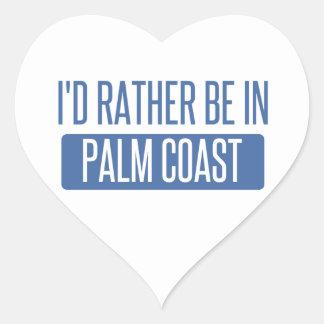Adesivo Coração Eu preferencialmente estaria na costa da palma