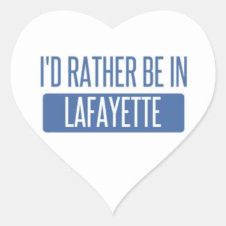 Adesivo Coração Eu preferencialmente estaria no LA de Lafayette