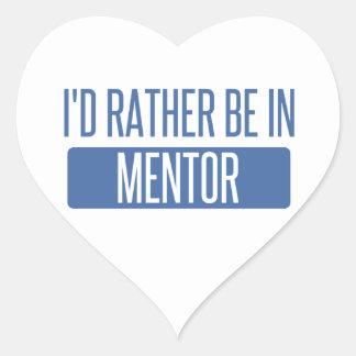 Adesivo Coração Eu preferencialmente estaria no mentor